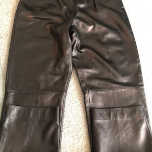 NWT black leather pants